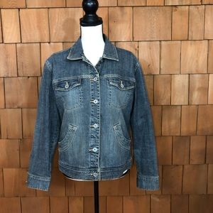 Chico's Platinum blingy denim jacket